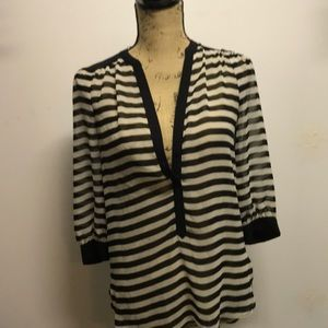 3/4 sleeve button up blouse